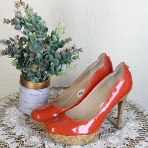 "Guess || Red/Orange 5"" High Platform Heels"